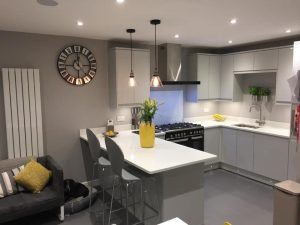 Family kitchen, breakfast bar Otley