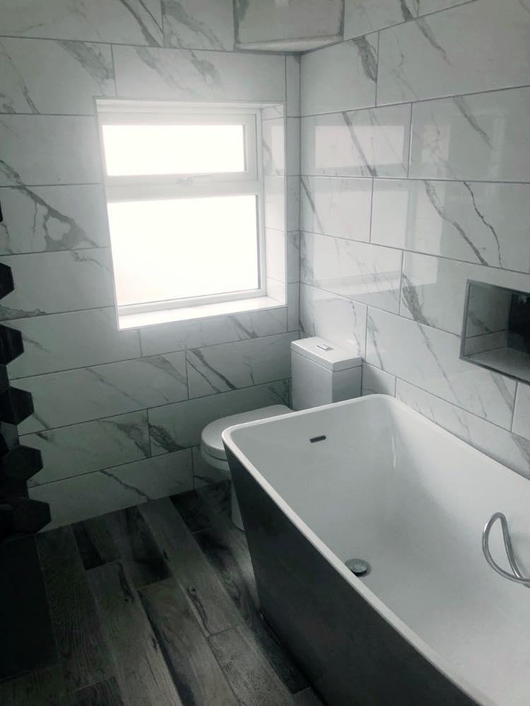 free standing bath bathroom renovation