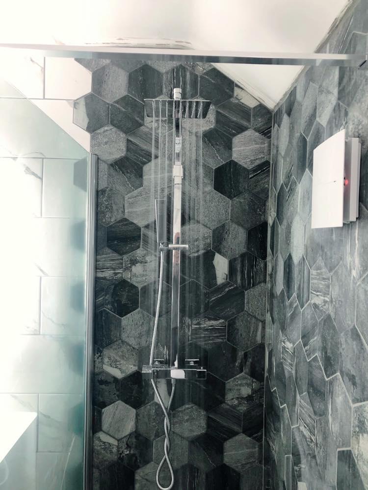 walk in shower, bathroom renovation Otley