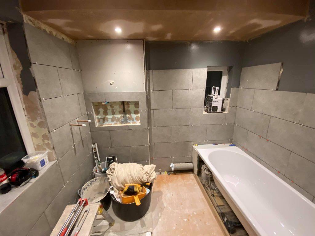 Modern fitted bathroom Menston, Leeds