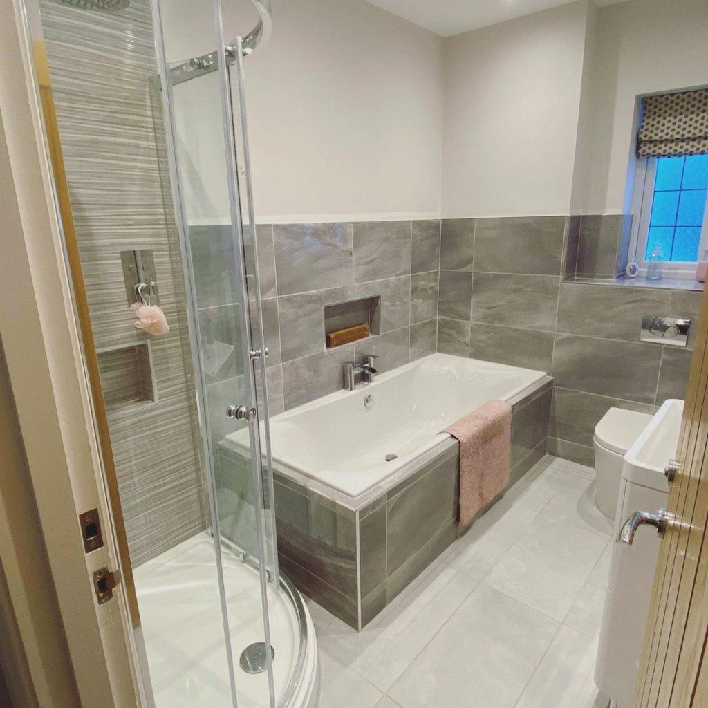 Modernised bathroom, Menston