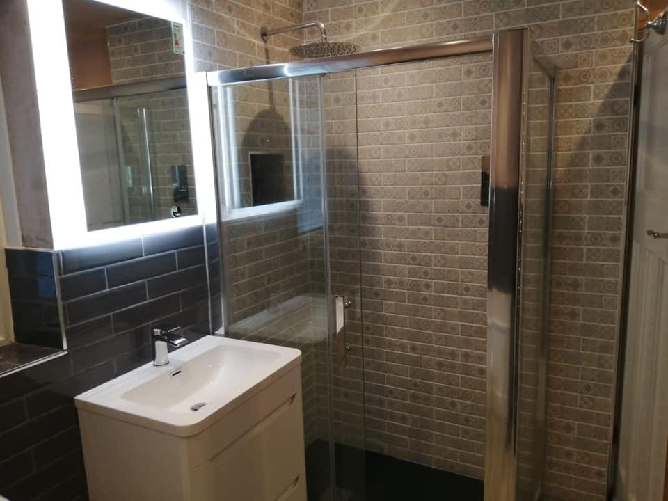 modern Family bathroom refurb fitters Baildon