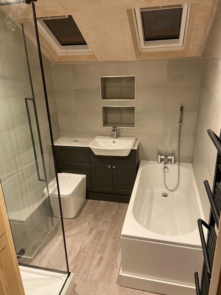 en-suite bathroom fitters and builders Guiseley