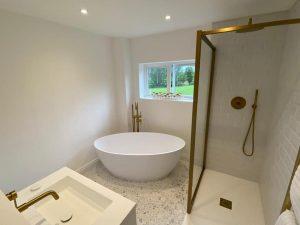 Gold tap bathroom design-Leeds